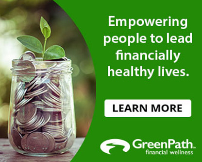 Empowering people to lead financially healthy lives.  Greenpath financial wellness.