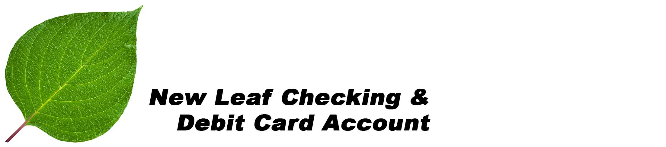 New Leaf Checking a Second Chance Account
